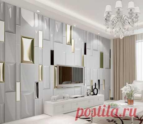 Фотообои на стену Белый с золотым. Артикул №dec_3890. Категория: 3D | KLV-обои