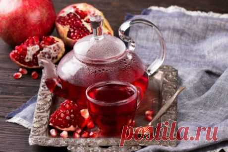 Красный чай каркаде с гранатовым соком, рецепт с фото   Вкусные кулинарные рецепты