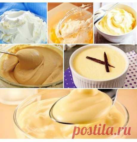Кремы для десертов: 7 рецептов
