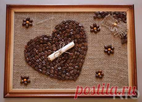 Panel from coffee grains