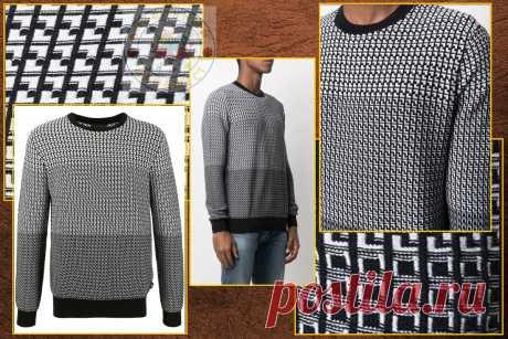 Для мужского пуловера,  схемы спицами.