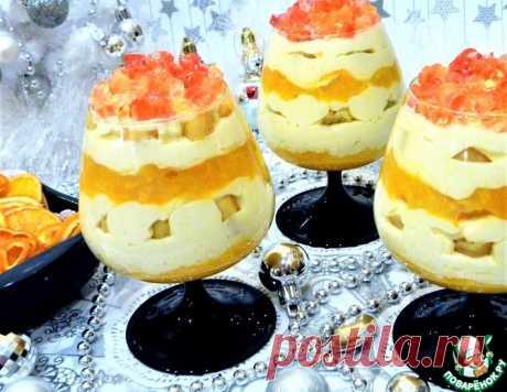 Сметанно-мандариновый десерт с желейными конфетти – кулинарный рецепт