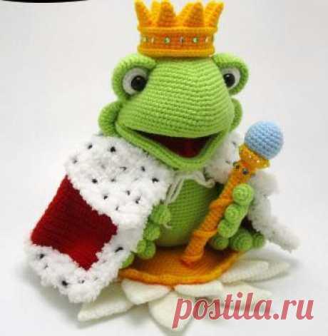 вязаный принц - лягушка