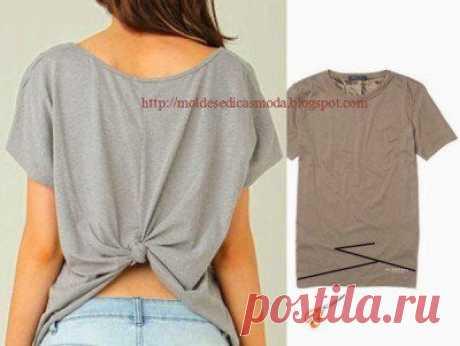 СПИНКА футболки - декорируем узелком !..  //ВК - Выкройки и переделка одежды,