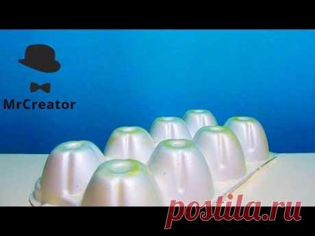 Красивая поделка из яичного лотка / Дюймовочка / Поделки Сувениры Фигурки от MrCreator