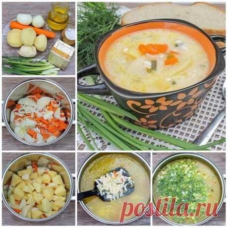 Суп из плавленных сырков. Ингредиенты на 4 порции: — 2 плавленных сырка; — 4 кар... | Вкусные рецепты Суп из плавленных сырков. Ингредиенты на 4 порции: — 2 плавленных сырка; — 4 картофелины; — 50 мл растительного масла;
