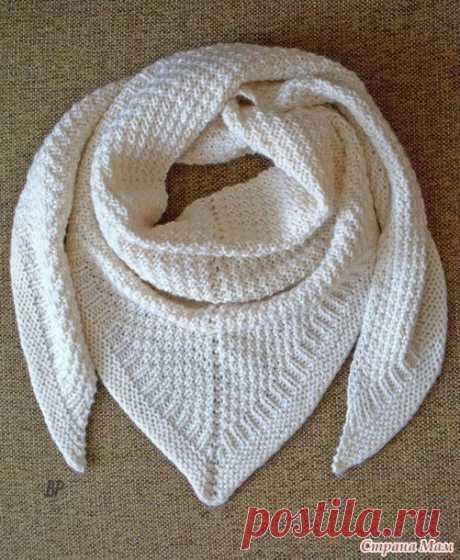 Шаль снежная, теплая и зимняя (Вязание спицами) – Журнал Вдохновение Рукодельницы