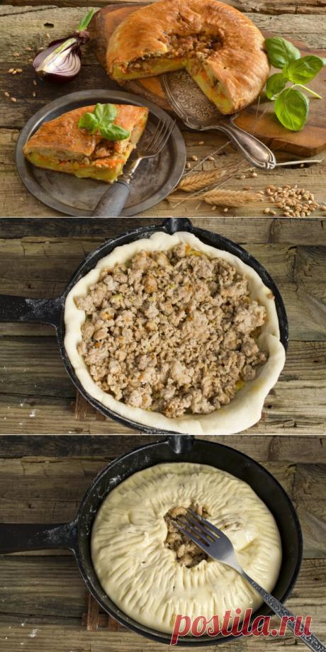 Английский пирог с картошкой и мясом.