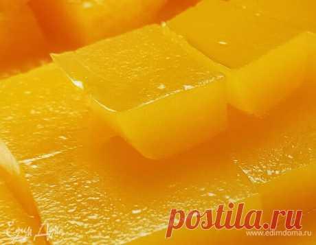 Домашний мармелад. Ингредиенты: апельсиновый сок, вода, агар-агар