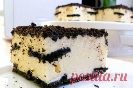 Торт из печенья с воздушным суфле   Рецепты на SuperKuhen.ru