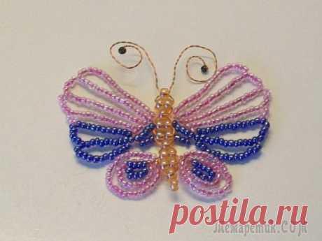 Изделия из бисера своими руками: бабочка