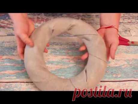 Основа для Пасхального венка своими руками за 10 минут / DIY / Wreath base in 10 minutes - YouTube Основу для венка сделать легко и просто. В видео я покажу как сделать основу из бумаги за 10 минут, данную основу я использовала в создании весеннего Пасхального декора.