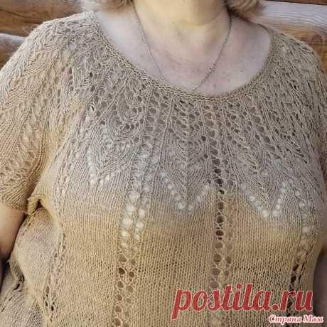 Ажурная туника летняя для карпулетных мадам - Вязание - Страна Мам