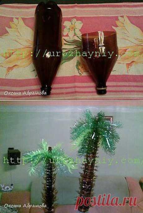 Пальма из пластиковых бутылок | Урожайная дача