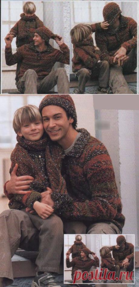 Пуловер, шапочка, жакет, шарф | Пуловер, свитер, жакет.