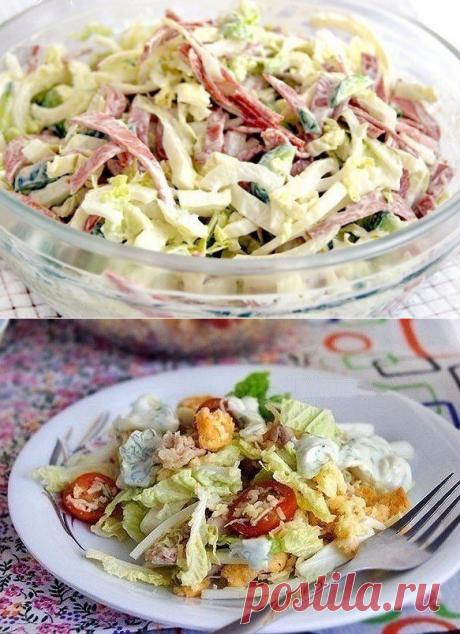 Шесть салатов с пекинской капустой