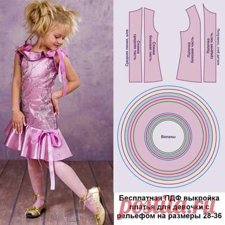 Бесплатная выкройка платья для девочки и как сшить красивое детское платье к новогодним праздникам | Шьем с Верой Ольховской | Яндекс Дзен