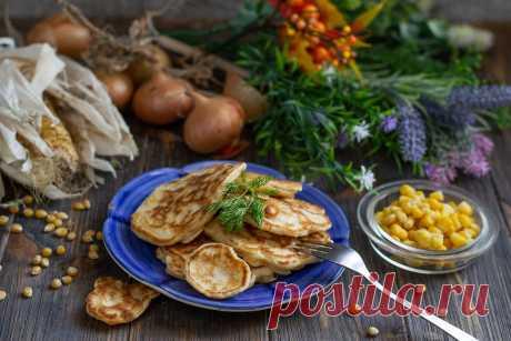 Оладьи с кукурузой и луком — настоящий домашний фаст-фуд. Пошаговый рецепт с фото — Ботаничка.ru
