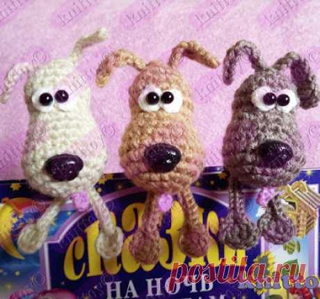 1000 схем амигуруми на русском: Собачки закладки крючком