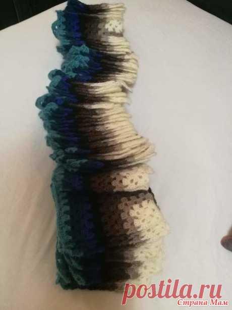 Плед 3D крючком - Вязание - Страна Мам