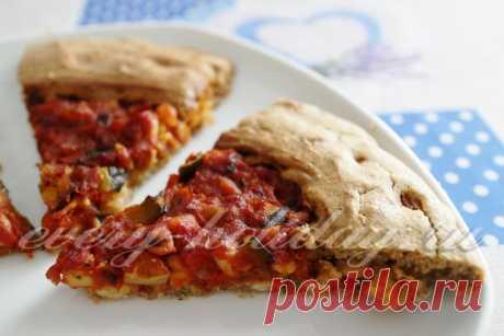 Постная галета с овощами и фасолью - рецепт с фото