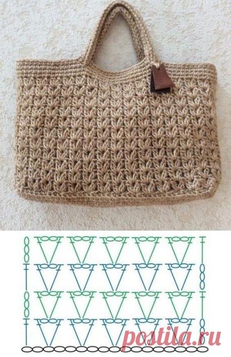 10 узоров крючком для летних сумок   Рукоделие