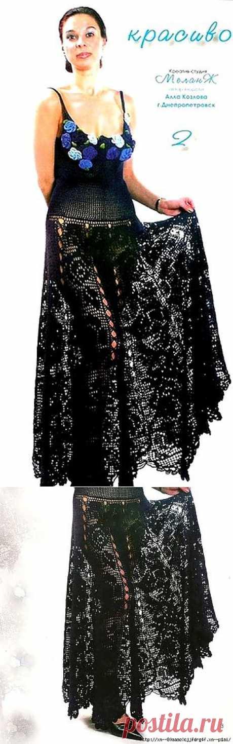 Черное платье, или юбка.