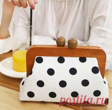 Шьем сумку с деревянным фермуаром | Журнал Ярмарки Мастеров