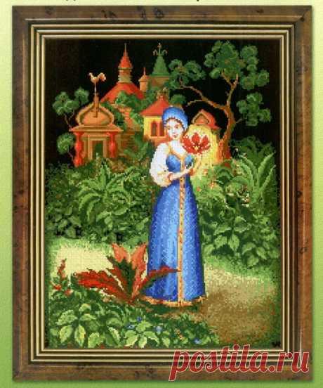 Вышивка в стиле русских народных сказок — DIYIdeas
