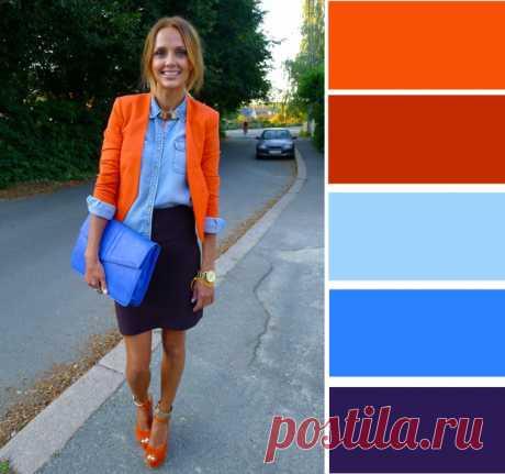 7 эффектных сочетаний с оранжевым цветом — BurdaStyle.ru
