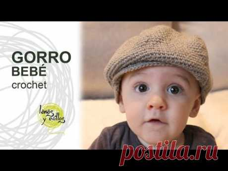 Tutorial Gorro o Boina Bebé Crochet o Ganchillo - YouTube cc477071d54