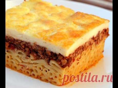 Пастицио по гречески - вкусно и сытно.