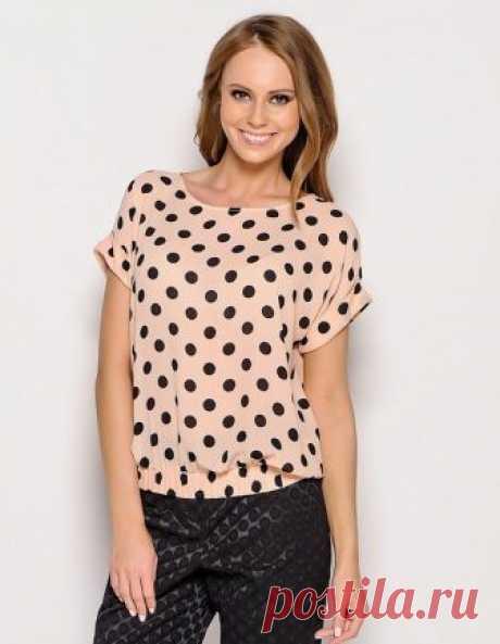 7f206d359f7 Как сшить блузку с коротким рукавом. Пошаговое описание (Шитье и крой)  Предлагаем самый