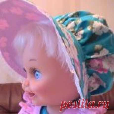 Мастер-класс. Шляпка-капор для куклы Baby Face Galoob - Бэйбики Шляпка-капор для Galoob baby face — одна из наиболее простых в изготовлении, на мой взгляд. Я первый раз делаю МК