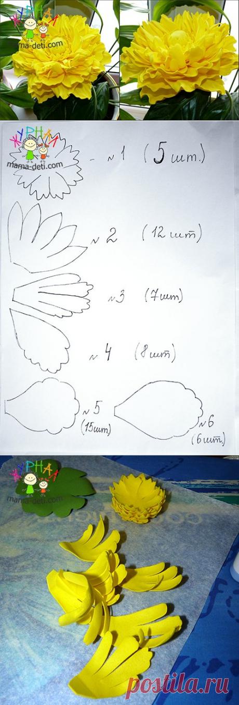 Пион из фоамирана своими руками | Цветы из фоамирана мастер классы » Журнал для мам и детей