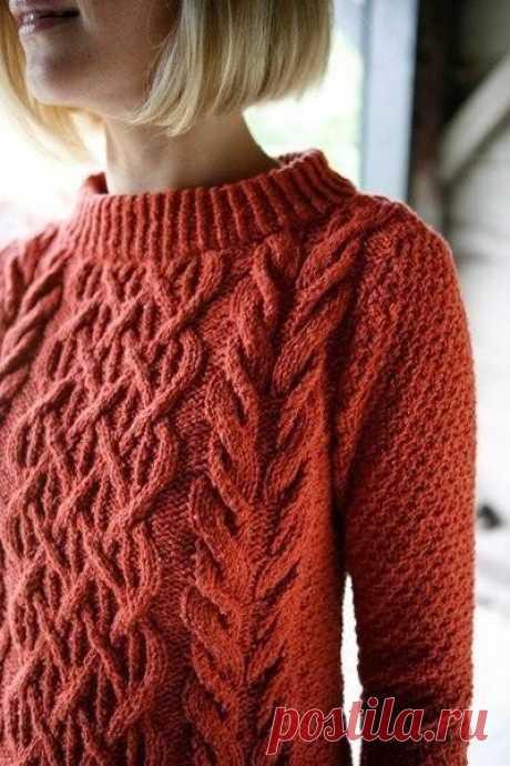 Изысканный пуловер - для стильных дам!