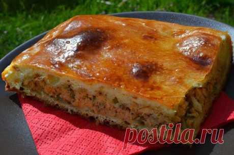 Как приготовить заливной пирог с сайрой :: Кулинарные рецепты