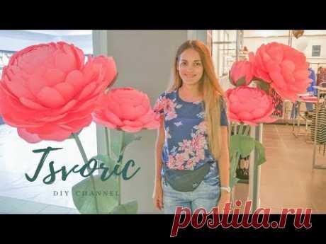 Большие ростовые цветы из бумаги / DIY TSVORIC