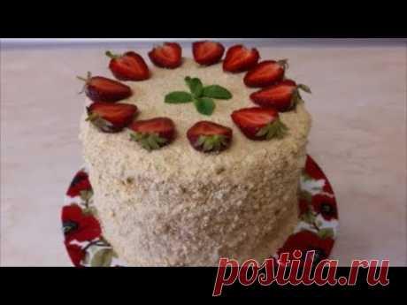 Медовик НА СКОВОРОДЕ мягкий , вкусный, нежный МЕДОВЫЙ торт ПРОСТОЙ рецепт Украшение тортов