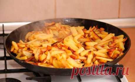 Ненакрывать крышкой сковородку... 6правил приготовления вкусной жареной картошки отопытных хозяек!