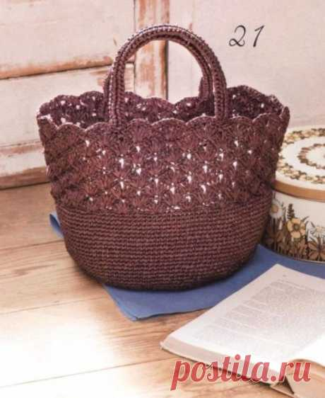 Практичная сумка крючком. Схемы. / Вязаные идеи, идеи для вязания