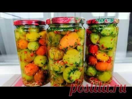 Что приготовить из ПОСЛЕДНИХ ЗЕЛЕНЫХ ПОМИДОРОВ! Зеленый Маскарад на зиму - рецепт любимой заготовки!