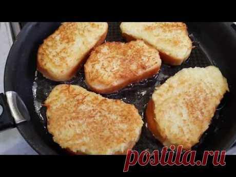 Бутерброды с картофелем и луком, сковородка