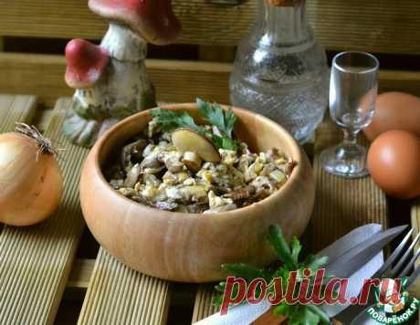 """Грибная яичница """"Праженица"""" – кулинарный рецепт"""