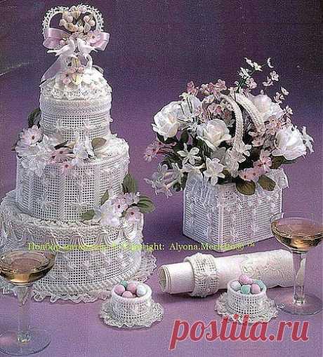 Вышивка по канве... к юбилею и свадьбе.