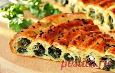 Неизбитый рецепт выпечки – пирог со шпинатом и сыром | Краше Всех