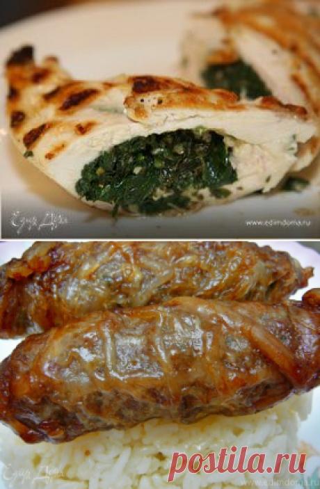 Кебаб из телятины в сальнике. Ингредиенты: говядина, сало, чеснок | Официальный сайт кулинарных рецептов Юлии Высоцкой