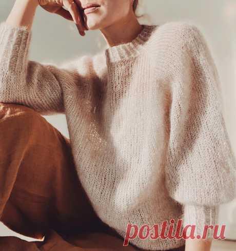 Вязаный пуловер из мохера Sweater No 1 - Вяжи.ру