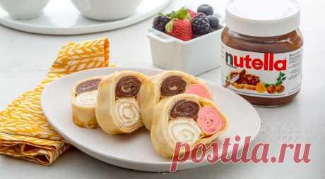 Рулеты с тройной начинкой и пастой Nutella® на Gastronom.ru