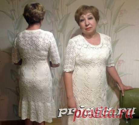 Вязаное платье – шедевр спицами